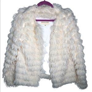 Main Strip | Women's Faux Fur/Fringe Tier Jacket